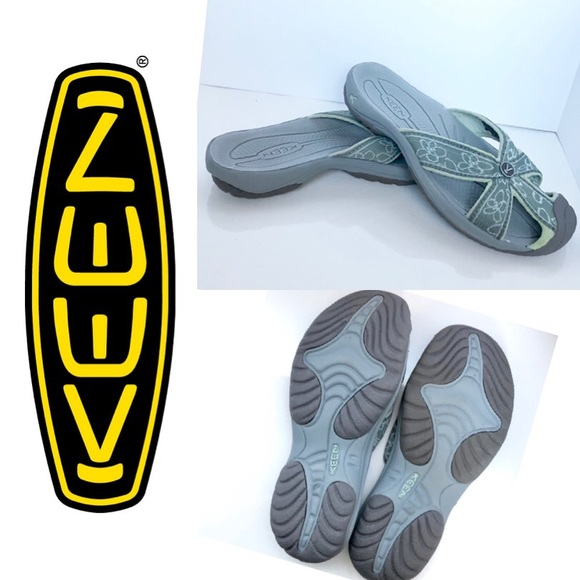 Keen Shoes - NWOB Keen Bali Slides Blue Floral Mule Sandals 8
